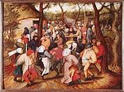 Ü Kunst, Brueghel, Pieter d. J. (1564 - 1638), Gemälde ´Bauernhochzeit´, Museum voor Schone Kunsten, Gent niederl., renaissance, menschen 16. Jh, hist...