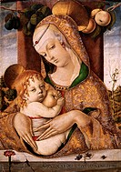 fine arts, Crivelli, Carlo, circa 1435 - before 1500, painting, ´Madonna with child´, circa 1480, tempera on panel, 48,5 cm x 33,6 cm, Victorica and A...