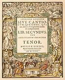 Erbach, Christian, circa 1570 - 1635, German composer, works, ´Modorum sacrorum, liber secundus´, edited by Johannes Praetorius, Augsburg, 1603, title...
