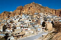 General view on Maaloula village. Syria