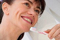 DENTAL HYGIENE, ELDERLY PERSON<BR>Model.