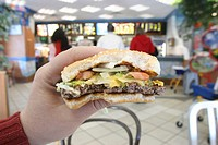HAMBURGER<BR>Photo essay.<BR>Fast food.