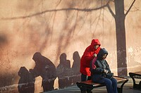 PEKING, CHINA<BR>Photo essay for press only.<BR>Massage in a Beijing park.