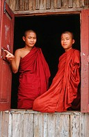 Young buddhist monks, Burma