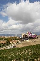 Ciudad del Vino, Herederos de Marques de Riscal winery building by Frank O. Gehry. Elciego, Rioja alavesa. Alava, Euskadi, Spain