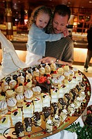 Puerto Rico, Atlantic Ocean, Holland America Line, ms Noordam, Lido Restaurant, Chocolate Extravaganza dessert display,
