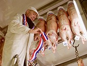 french pork meal-french label-agriculture exhibition- butcher-   stockbreeding-