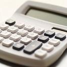 close-up of a calculator