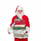 Portrait of Santa clause carrying gifts