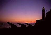 Havana, Cuba. El Morro castle in Havana harbor at sunset.