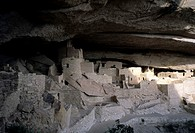Mesa Verde, Colorado. The ruins of the Anasazi cliff dwelling of Mesa Verde.