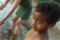 Wet little boy