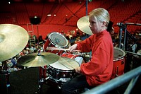 A girl beating the drums, Sweden