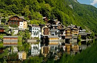 The town of Hallstatt in the Salzkammergut region of Austria. 2006