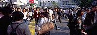 People on a zebra crossing in Tokyo 3