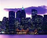 Downtown skyline, Manhattan, New York, USA.