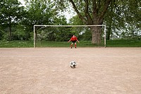 Goalkeeper in goal