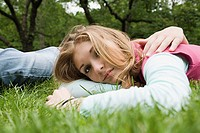 Teenage girl resting in a park