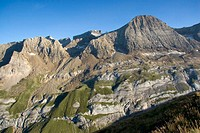 Brèche de Roland and Taillon peak, Pyrenees Mountains, France