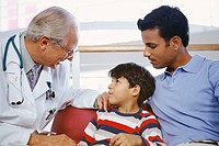 Pediatrician Speaking with Boy