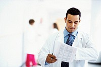 Physician with Paperwork