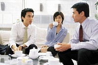 Businesspeople Drinking Tea (thumbnail)