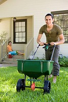 Man doing yard work (thumbnail)