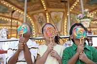 Kids Licking Giant Lollipops