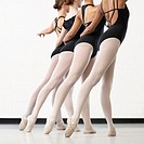 Four Ballerinas in a Line