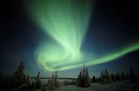 Canada, Manitoba, Wapusk National Park, aurora borealis