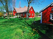 Typical red country house in Sweden
