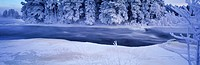 Dal River in winter in Dalarna Provence of Sweden