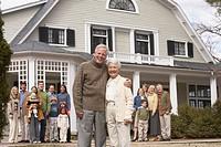 Senior Couple and Their Family