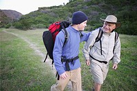 Grandfather and Grandson Backpacking (thumbnail)