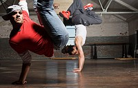 Two Young Men Break Dancing (thumbnail)