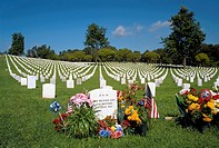 Los Angeles National Veterans Cemetary in Westwood, California
