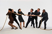 Executives in tug-of-war