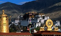 High angle view of a temple, Jokhang Temple, Lhasa, Tibet, China