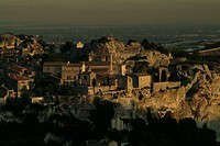 High angle view of buildings on a hill, Provence, France
