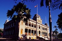 Iolani Palace, Honolulu, Oahu, Hawaii USA