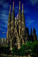 Antonio´s Gaudi´s Templo de la Sagrada Familia (church of the holy family)  in Barcelona, Spain.