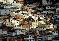 Hundreds of low-income housing ´ranchitos´ (shanties) cover the hillside in Caracas, Venezuela.