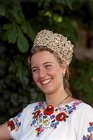 Hungary, Budapest, Girl in Traditional Costume