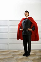 Businessman Wearing Cape