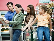 Family Shopping in Health Food Store