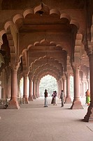 Diwan-i-Khas (Hall of Public Audience) in the Red Fort. New Delhi. India.
