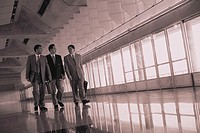 Businessmen Walking in Airport (thumbnail)