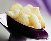 Prawn Crackers in a Purple Bowl