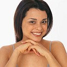 Smiling Woman in Tank Top
