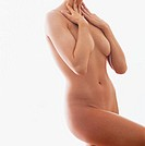 Nude Woman with Arms Over Her Breasts
